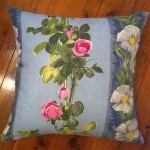 Rose Print Barkcloth 40cm $45.00  50cm $55.00