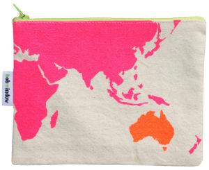 Small map purse pink